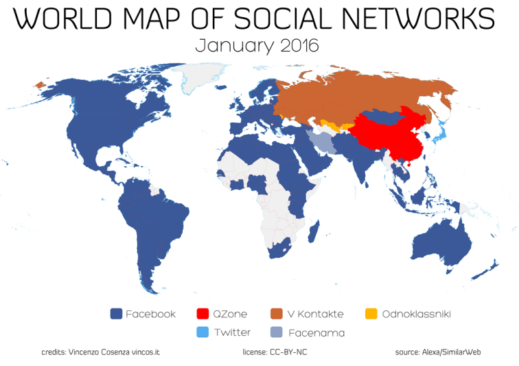 thebusinesspunk.com - world maps 2 of social networks