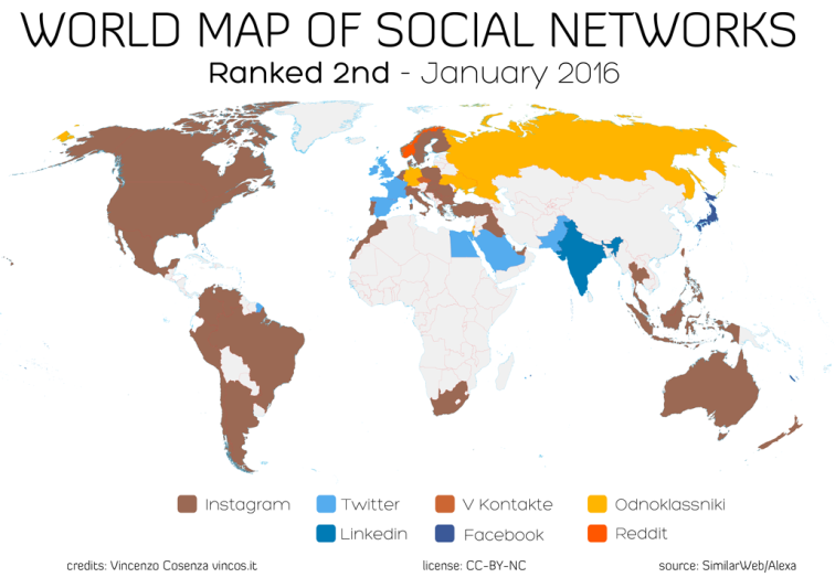 thebusinesspunk.com - world maps 3 of social networks
